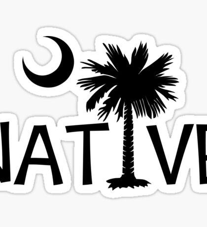 Black South Carolina Palmetto Moon Native Sticker