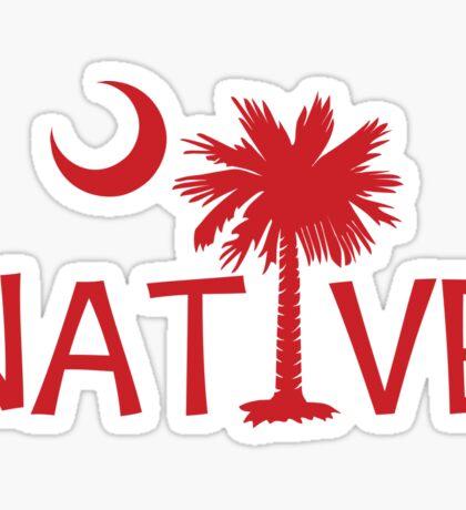 Red South Carolina Palmetto Moon Native Sticker