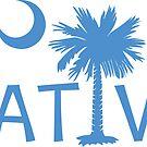 Light Blue South Carolina Palmetto Moon Native by PalmettoTrading