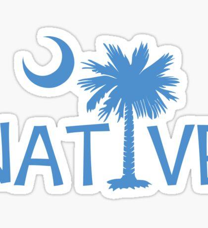 Light Blue South Carolina Palmetto Moon Native Sticker