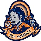 Our Lady Of Science - STICKER by WinterArtwork