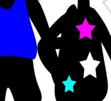 Boy & Girl vector art Sticker