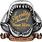 Amity Island Boat Hire - Sticker by rubyred