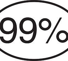 99% - Window Sticker by Donald Salsbury