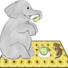 Elephant and Mouse Tea Party by Sarah Countiss