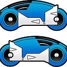 TRON Classic Blue Lightcycle Stickers by Eozen