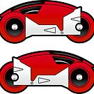 TRON Classic Red Lightcycle Stickers by Eozen