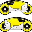 TRON Classic Yellow Lightcycle Stickers by Eozen