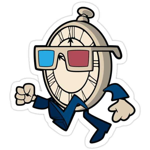Tenth Doctor Watch Sticker by nikholmes