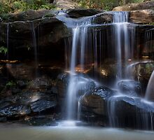Hunts Creek Waterfall by Irena Hayes