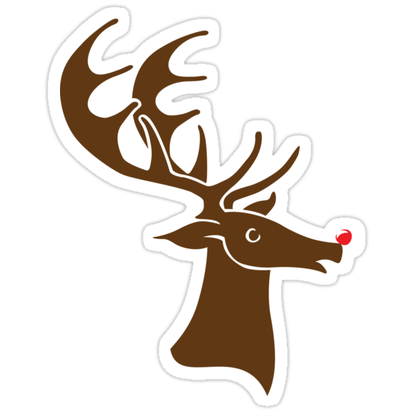 Rudolph is coming - sticker by D4N13L