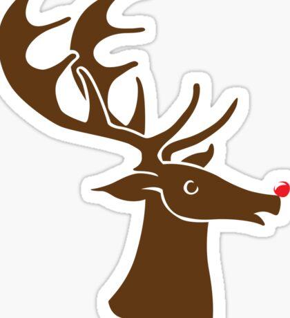 Rudolph is coming - sticker Sticker