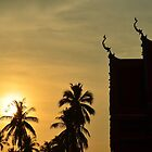 sunset in the tempel by michelle meenawong