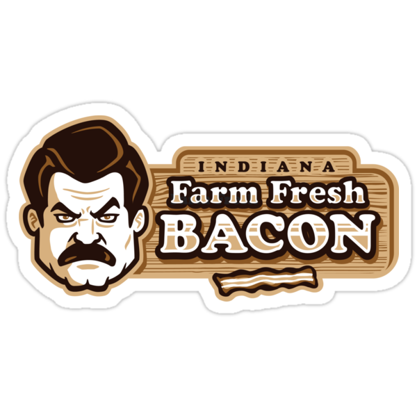 Farm Fresh Bacon - STICKER by WinterArtwork
