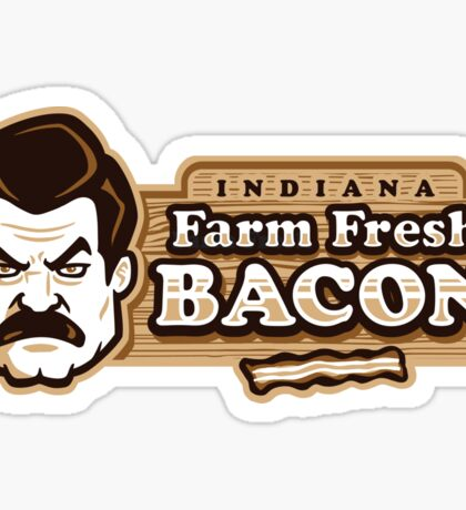 Farm Fresh Bacon - STICKER Sticker