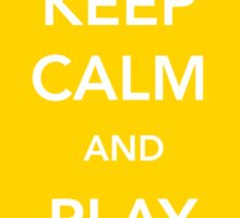 Keep Calm and Play Yellow Car [Sticker] Sticker