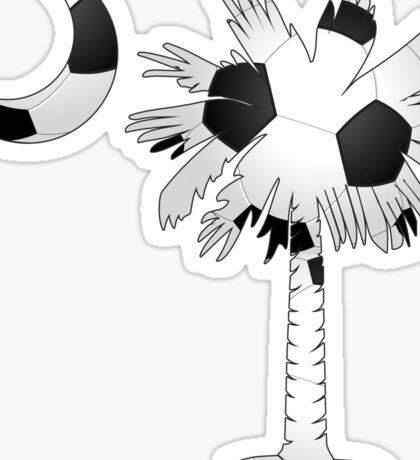 Soccer Palmetto Moon Sticker