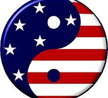 American Yin Yang Symbol by SpikeysStudio