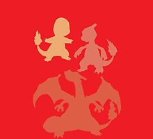 Pokemon - Charmander Family iPhone / iPod Cover by Aaron Campbell