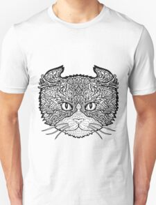 American Curl Cat - Complicated Coloring T-Shirt