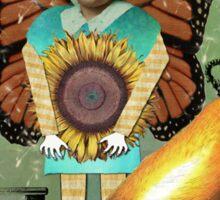 Little Miss Sunshine Vintage Collage Stickers Sticker