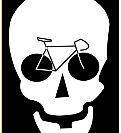 Bike Skull Sticker Sticker
