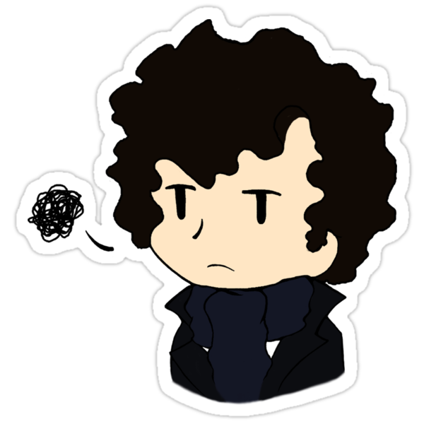 Annoyed Chibi!Sherlock by imbusymycroft