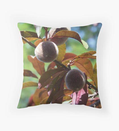 Peaches On The Tree Throw Pillow