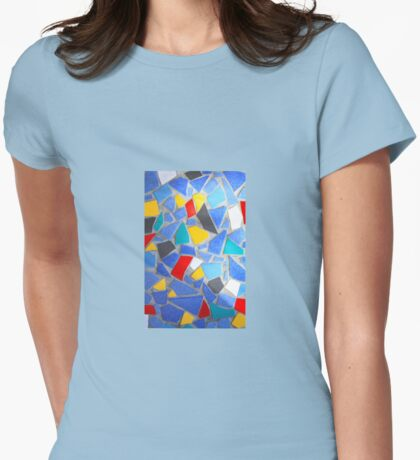 Mosaic Womens Fitted T-Shirt