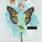 Vintage Altered Art Collage Pretend Shirt by Gidget26