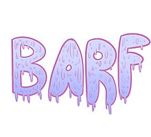 Barf BLUE Photographic Print
