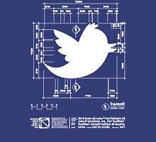 Twitter T Shirt, Bird Logo Dimensions T-Shirt