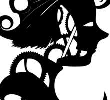 Clockwork masquerade (Female portrait) Sticker