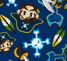 Cute Pirate Captain Pattern  Sticker