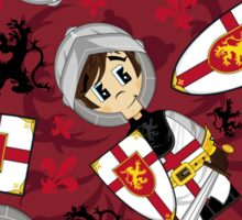 Cute Medieval Crusader Knight Pattern Sticker