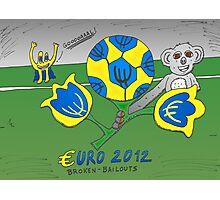EURO 2012 binary options news cartoon Photographic Print