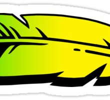 Hooger Booger Feather Yellow Sticker
