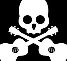 Old Skull Music Guitar by RestlessSoul