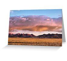 Storm Clouds Blush Towards Sunset Greeting Card