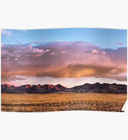 Storm Clouds Blush Towards Sunset Poster