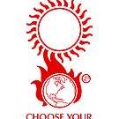 """Solar Storm Sticker - """"Choose Your End"""" by Thorigor"""