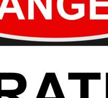 Danger Pirates - Warning Sign Sticker