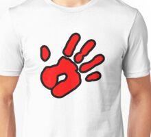Hand Print (red) Unisex T-Shirt