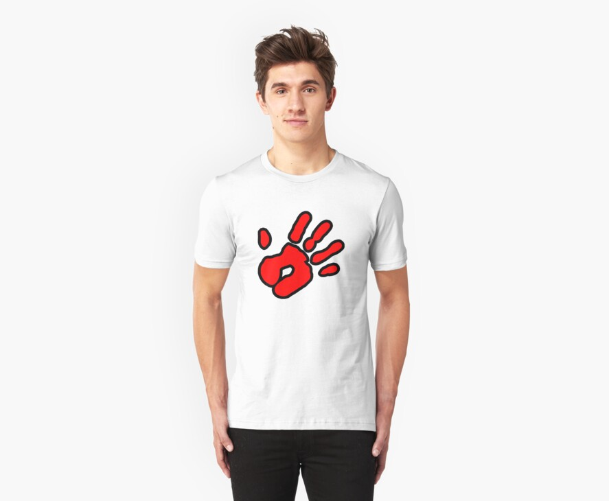 Hand Print (red) by cadellin