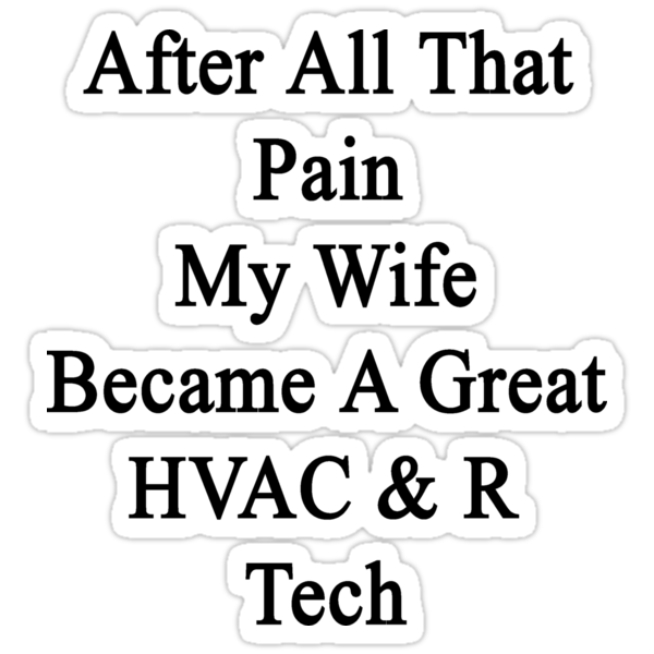 After All That Pain My Wife Became A Great HVAC & R Tech by supernova23