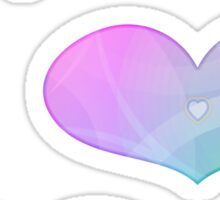 rainbow hearts2 Sticker