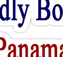 Proudly Born In Panama Sticker