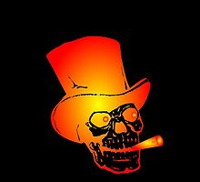 Skull in Top Hat by Chillee Wilson by ChilleeWilson