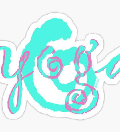 yoga swirl aqua Sticker