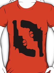 Handguns by Chillee Wilson T-Shirt